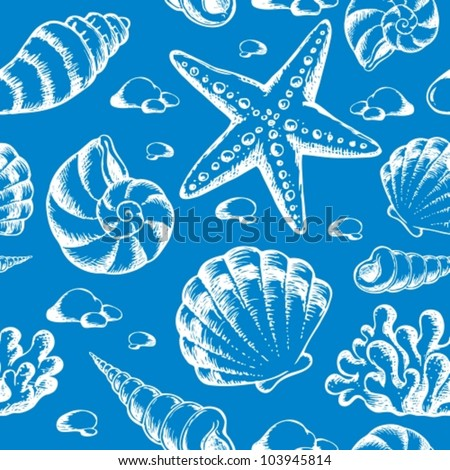 Beach theme seamless background 2 - vector illustration. - stock vector