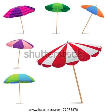 Beach Umbrella - stock vector