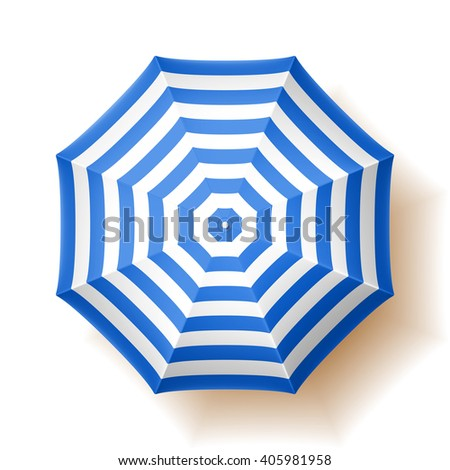 Beach umbrella. Vector illustration.  - stock vector