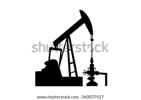 Beam Pump oil and gas , Vector