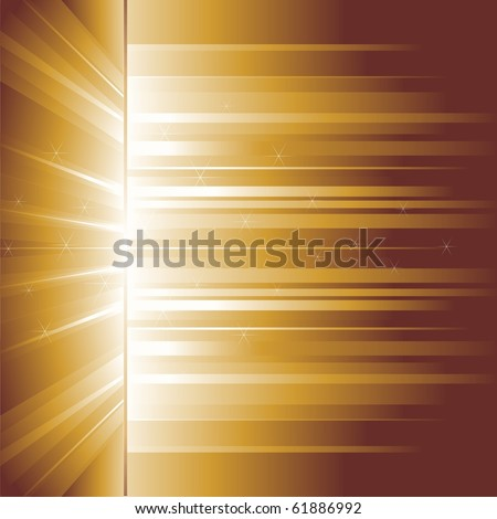 Beams gold. An abstract vector background. - stock vector