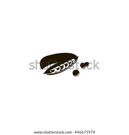 beans icon. beans sign - stock vector