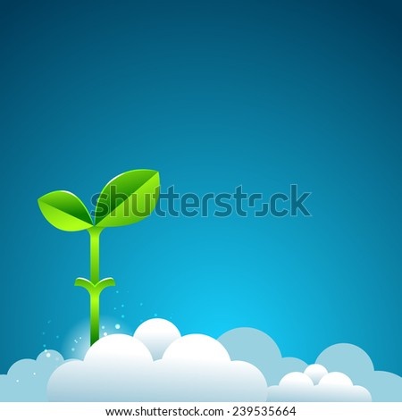 beanstalk in the sky. business growth concept