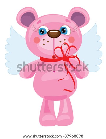 Bear angel ,vector