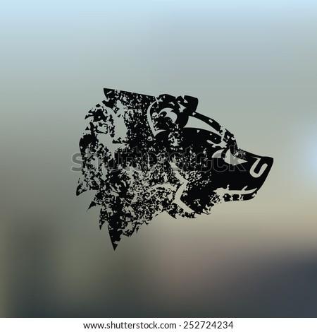 Bear design on blur background,grunge vector - stock vector
