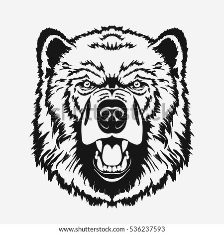 bear cartoon head outline stock images royaltyfree