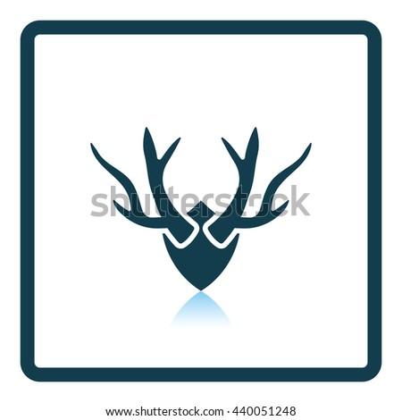 Bear hunting trap  icon. Shadow reflection design. Vector illustration. - stock vector