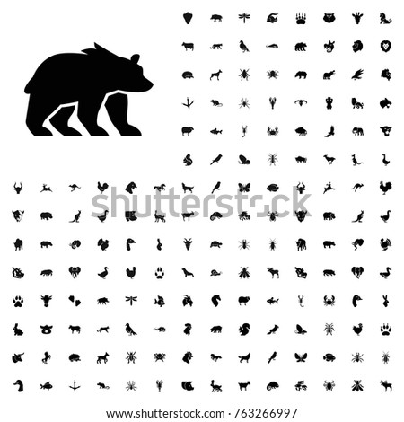 Bear icon illustration isolated vector sign symbol. animals icon set for web and mobile.