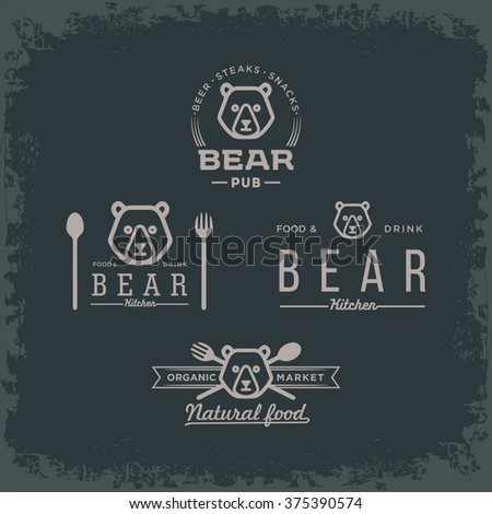 Bear logo black