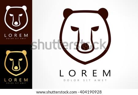 Bear logo. Vector illustration. - stock vector