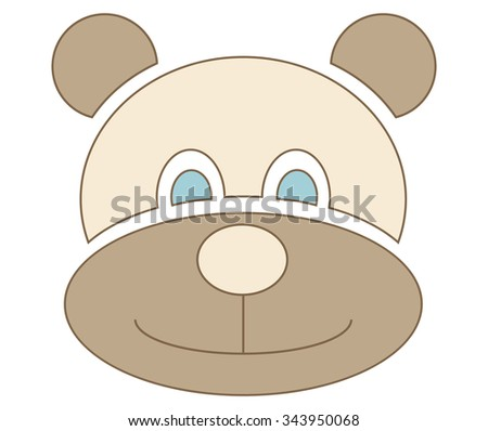 bear symbol for kids, isolated vector