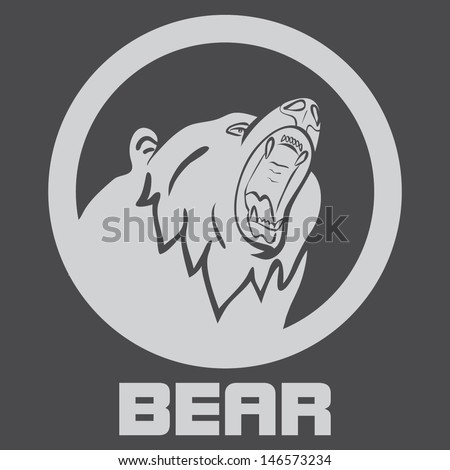 BEAR SYMBOL VECTOR - stock vector