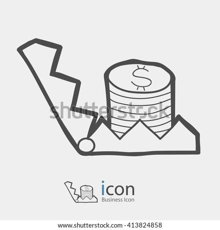 Bear trap icon. - stock vector