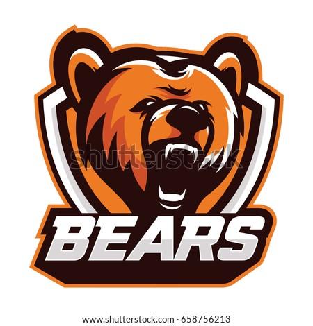 bear wild animal head mascot logo stock vector 658756213 shutterstock rh shutterstock com bear mascot clipart free High School Bear Mascots