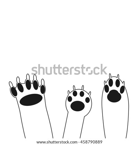 Panther paw vector