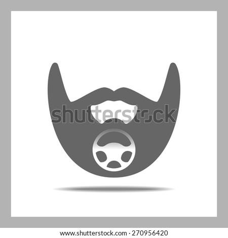 Beard Icon. Car - stock vector