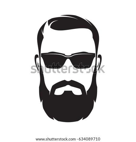 bearded man head silhouette wwwpixsharkcom images