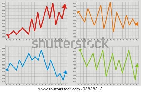 bearish market - stock vector