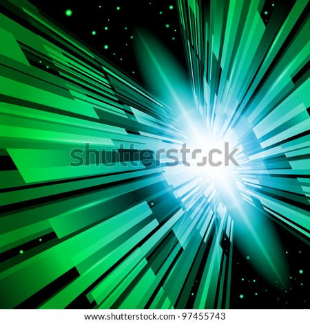 Beautiful Abstract Backdrop Effect of Green Radiance