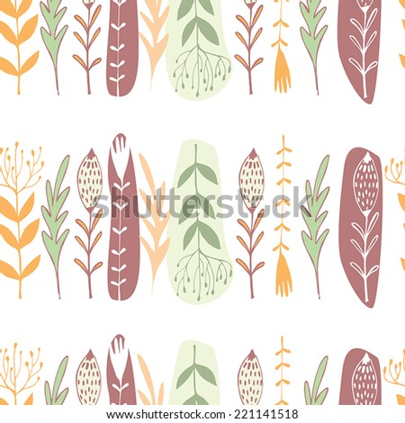 Beautiful abstract background.Floral seamless pattern with beautiful flowers. Amazing garden design.  - stock vector