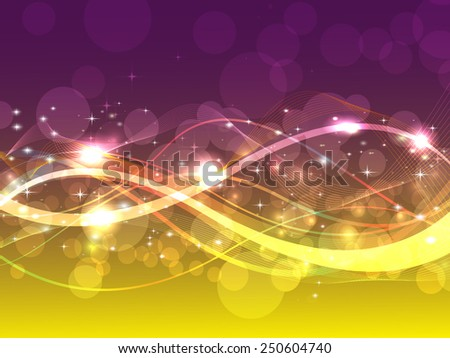 Beautiful abstract background with gradient and radiance. Vector illustration - stock vector