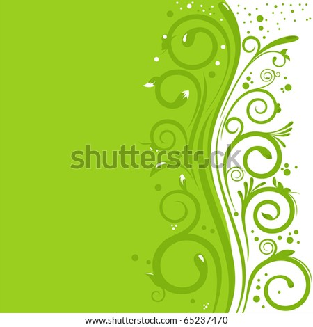 Beautiful abstract background with natural design and free space for Your text - stock vector