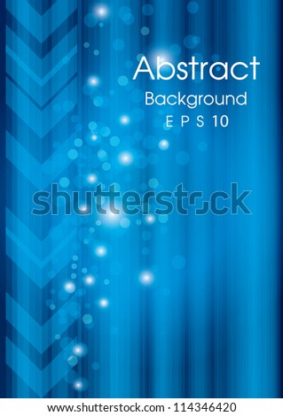 beautiful abstract blue background vector - stock vector