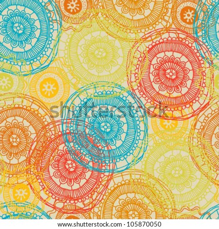 Beautiful abstract colorful seamless vector pattern - stock vector