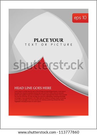 Beautiful Abstract Flyer Design, Cover page design, eps 10 - stock vector