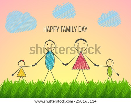 Beautiful abstract for family day - stock vector