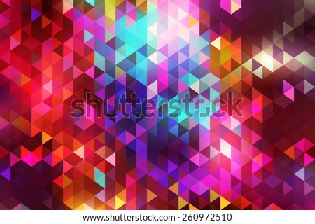 Beautiful abstract geometric style background with vibrant color tones. - stock vector