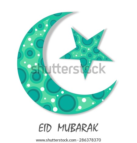 beautiful abstract moon design for muslim community festival Eid Mubarak and Ramadan mubarak celebrations