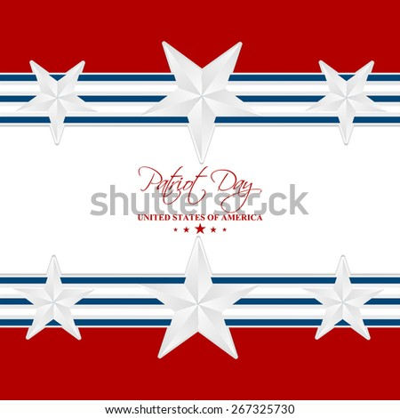 Beautiful abstract of Patriot Day with nice and creative background with red and white colour. - stock vector