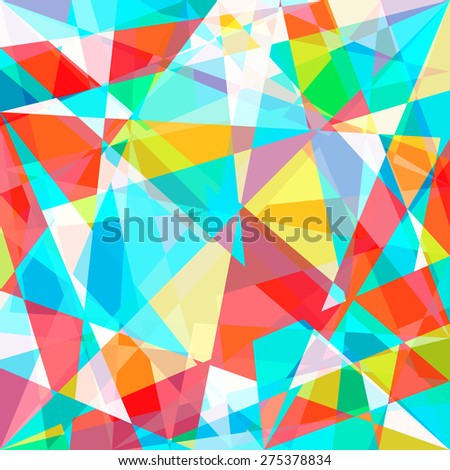 Beautiful abstract pattern. Color polygonal pattern. Geometric backdrop. Gem crystal texture. Rainbow background. - stock vector