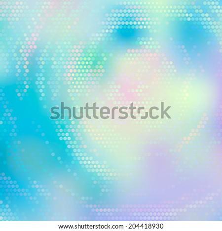 Beautiful abstract rotating swirl background. Mosaic vector illustration. Fantasy pattern. EPS10. - stock vector