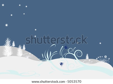 beautiful abstract vector winter design