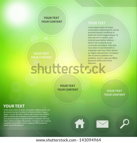 Beautiful Abstract Web Design With Lens Flare - stock vector