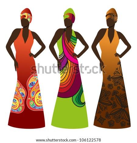 Beautiful african women - stock vector
