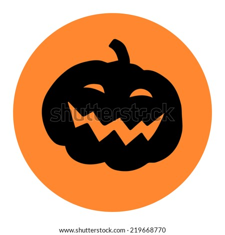 Beautiful and funny halloween pumpkin sticker