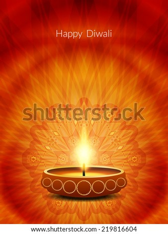 Beautiful artistic background for Indian festival Diwali. Vector illustration - stock vector