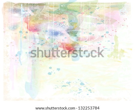 beautiful background. Imitation of watercolor painting. - stock vector