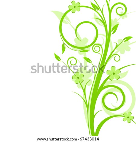Beautiful background with spring floral composition - stock vector