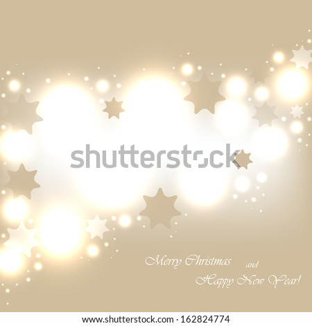 Beautiful beige background with sparkles. Vector  illustration