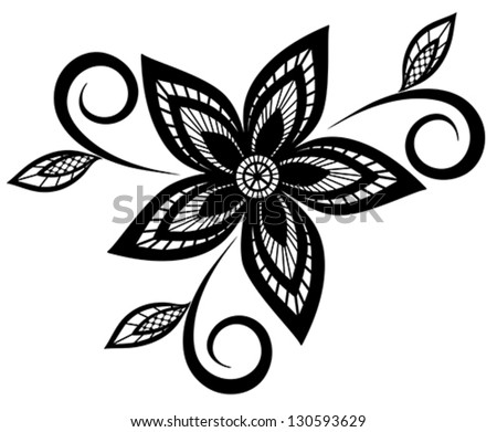 Beautiful black white floral pattern design stock vector royalty beautiful black and white floral pattern design element many similarities to the authors profile mightylinksfo