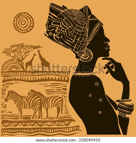 African Design Stock I... Black And White Tribal Print Wallpaper
