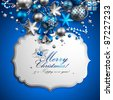 Beautiful blue and silver christmas background. Vector illustration. Check my portfolio for raster version. - stock vector