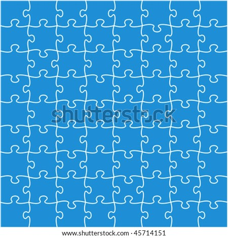 Beautiful blue jigsaw puzzle vector