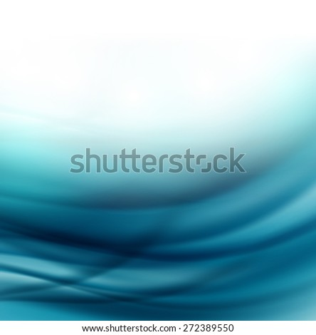 Beautiful Blue Satin,  Illustration  easy editable - stock vector