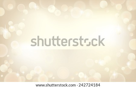 Beautiful bokeh background in a champagne color. - stock vector