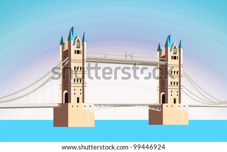 beautiful bridge are made age-old style - stock vector